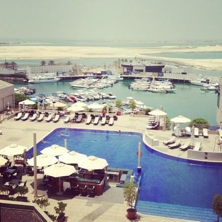 InterContinental Abu Dhabi: View from our room on the 7th floor