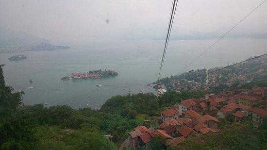 Hotel Beau Rivage: view from first stage cable car