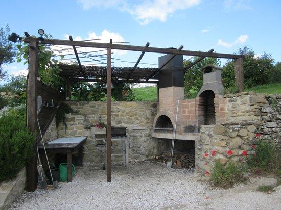 La Cuccagna: Pizza oven & BBQ area