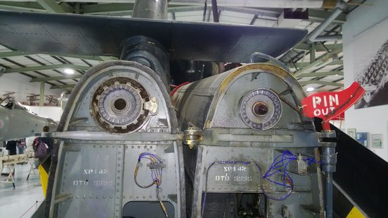 Fleet Air Arm Museum: A folded helicopter tail rotor, note the gears