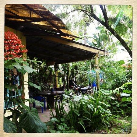 La Ruka Hostel : Outside seating area