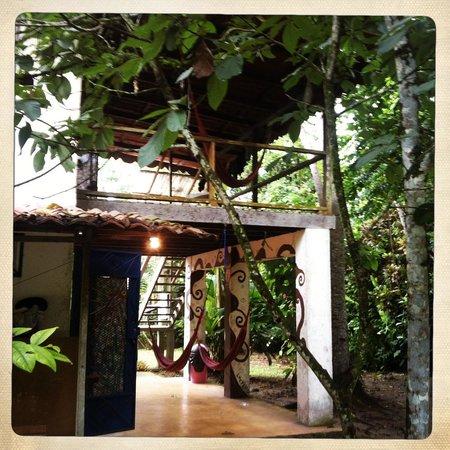 La Ruka Hostel: Area in front of 8 bedroom dorm