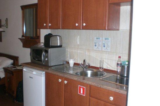 Ventus Rosa Apartments: Kitchen area