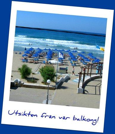 Steris Elegant Beach Hotel Apartment: Utsikten från vår balkong