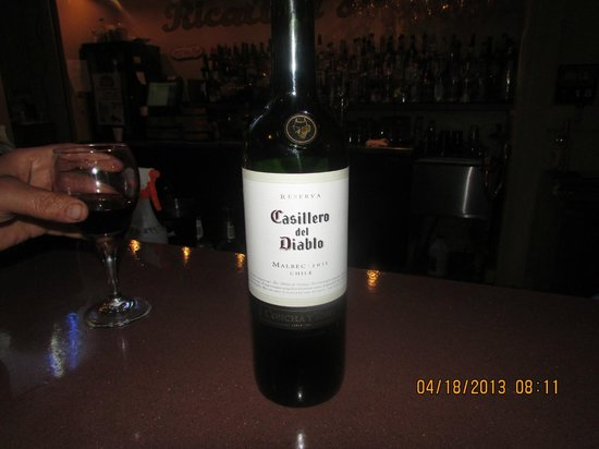 Ricaltini's Bar & Grille: Bottle of wine. :-)