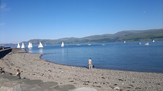 Cleifiog B&B: Looking from Beaumaris across the Menai Straits