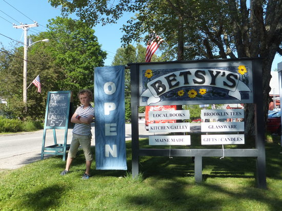 The sign says it all..Betsy's in Brooklin