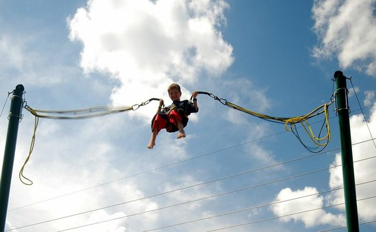 Amaze'n Steamboat Family Fun Park: Bungee Trampoline!!