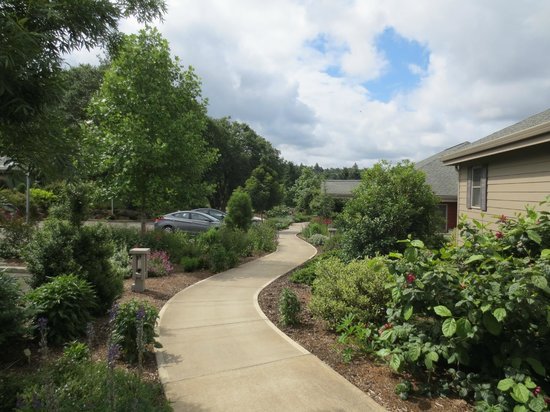 Oregon Garden Resort: Path to our condo