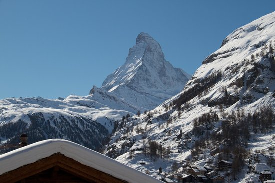 Carina Hotel: View of the Matterhorn from my west-facing room.