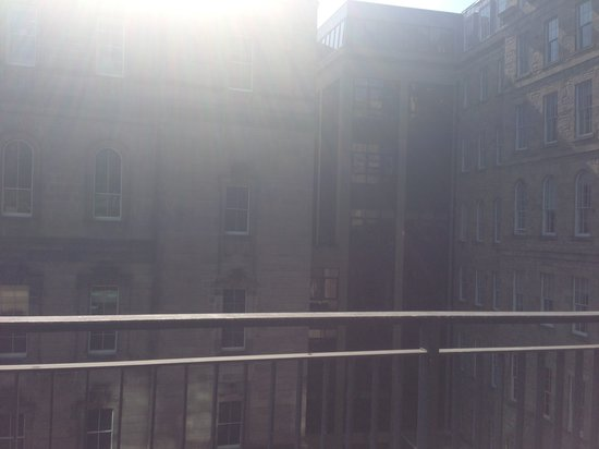 Princes Street Suites: view from the -1 floor balcony