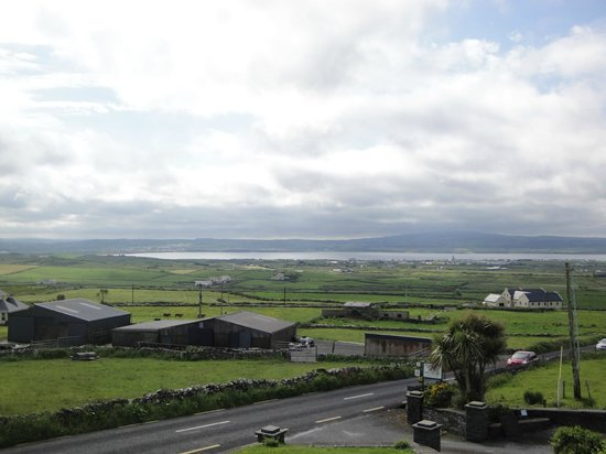 Moher Lodge: The view from the Burren bedroom