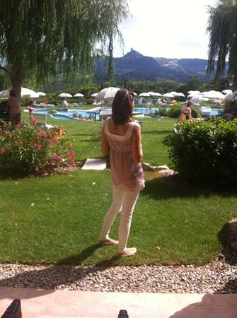 Hotel Adler Thermae Spa & Relax Resort: Ammirando il panorama...!!