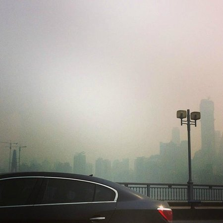 Somerset Jiefangbei Chongqing: Smogen är vidrig i Chongqing - det måste erkännas.