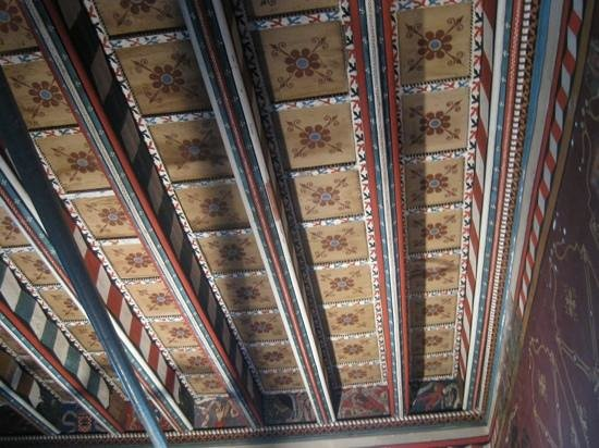 Abbaye de Saint Hilaire : The Bishop's painted room, in this case the ceiling