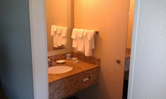 SpringHill Suites Boston Peabody: Separate sink