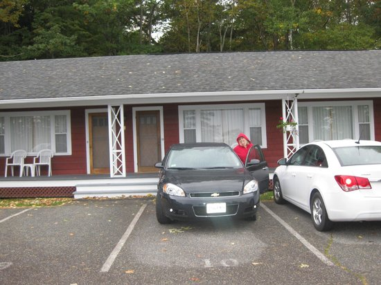Parking by our door, Highbrook Motel, Bar Harbor, ME