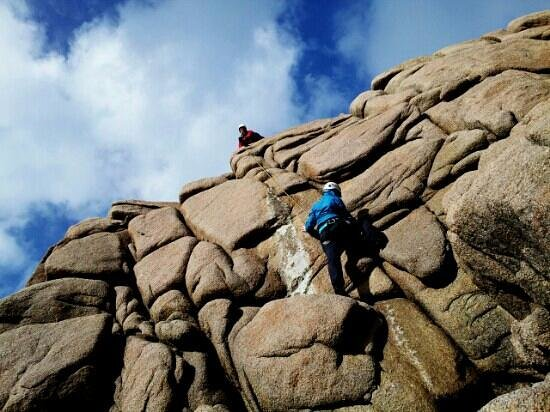 Climbing on Cruit Island