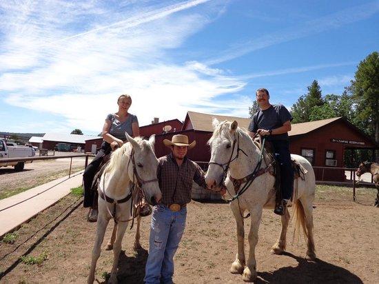 High Mountain Trail Rides : Faith & Gerry on Horseback