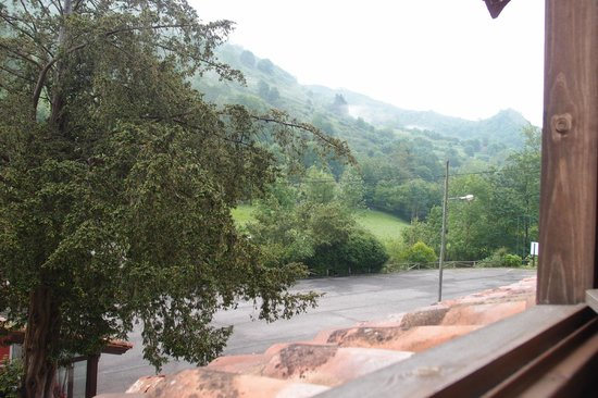 Los Texos: View from our loft room (early morning)