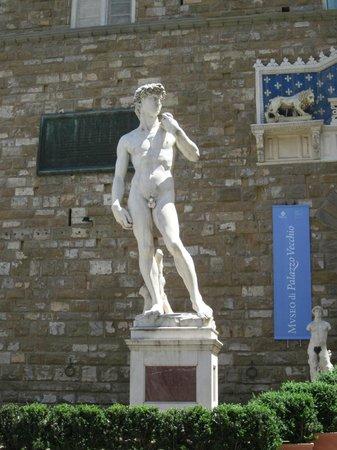 Il David Ristorante Firenze : David in Piazza della Signoria