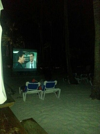 Dreams Palm Beach Punta Cana: cinema at the beach every night great idea