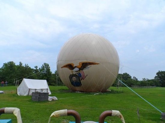 Genesee Country Village & Museum: 1812 Military hot air balloon