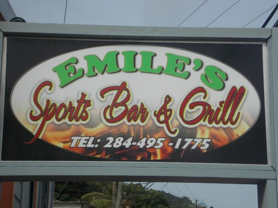 Emile's Sports Bar and Gril: Our SIgn
