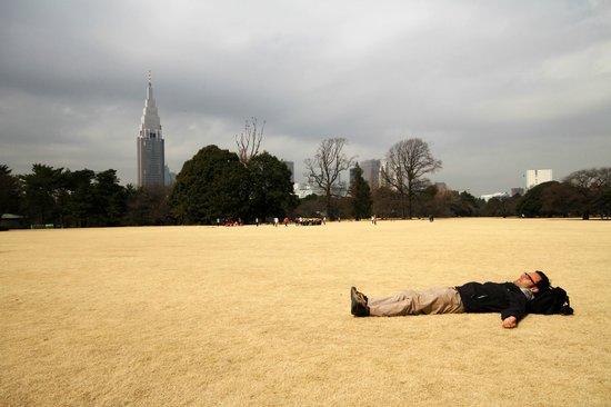 Shinjuku Gyoen National Garden: Napping in the English Landscape Garden