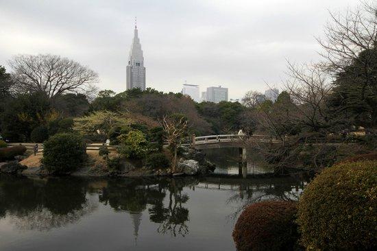 Shinjuku Gyoen National Garden: NTT Docomo Yoyogi Building
