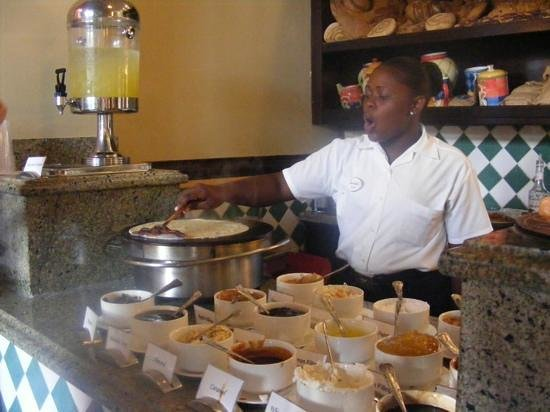 Sandals South Coast: definitely a must... crepes made to order!