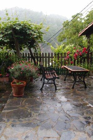 Posada Las Espedillas: Outdoor (raining)