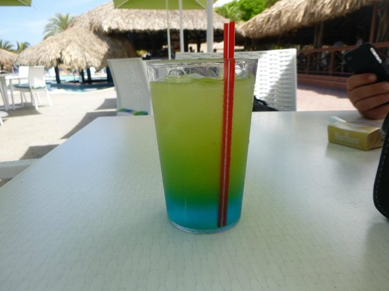 Sunscape Curacao Resort Spa & Casino - Curacao: Blue monkey drink