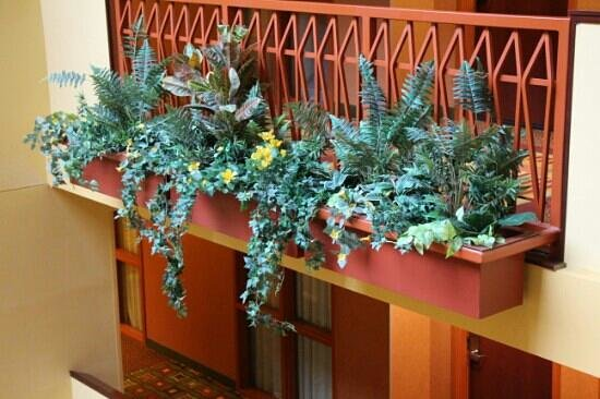 Embassy Suites by Hilton Hampton Hotel Convention Center & Spa: nice foliage