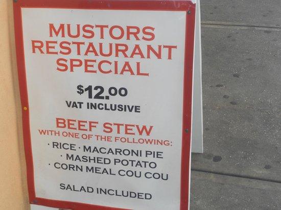 Mustor's Restaurant: Mustors Special