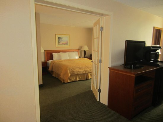 Comfort Inn & Suites Syracuse Airport: Bedroom from living area