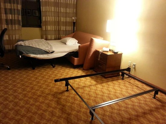 Madison Marriott West: My very comfortable sleeper sofa!
