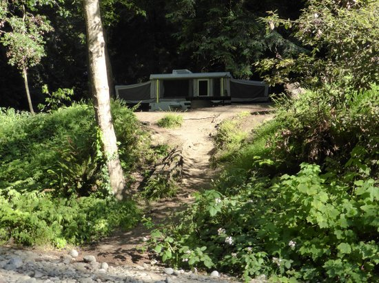 Big Sur Campground & Cabins: view of site from river