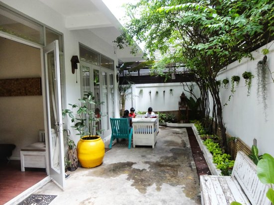 Littlest Guesthouse: The open door is the reception area