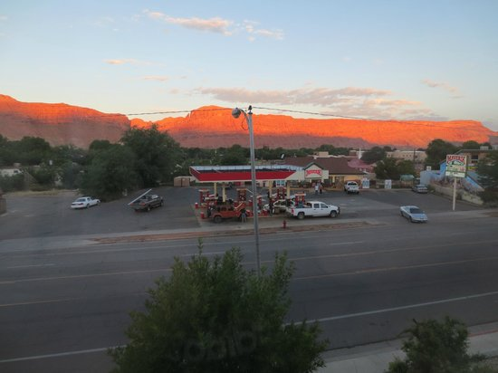 Hampton Inn Moab: View of gas station and store across the street