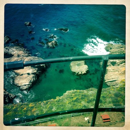 Point Arena Lighthouse & Museum: View down from top of Lighthouse