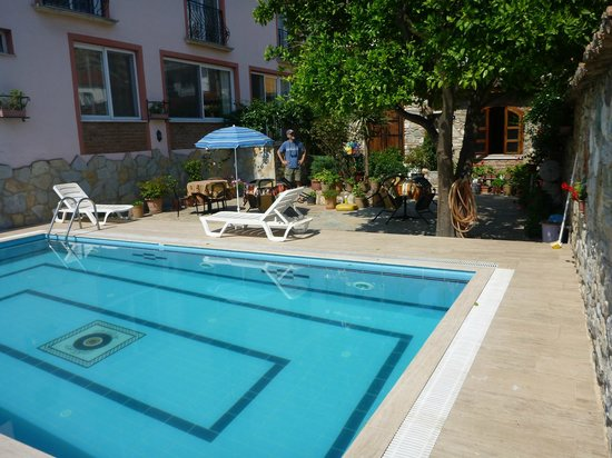 "Hotel Nazar: The ""garden spot"" pool and relaxation area--yummy dip on a hot day!"