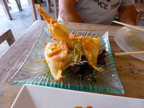 ZUSHIYA Modern Japanese Dining: The crab Ravioli... Not our favourite.