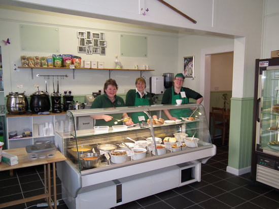 Cool Gourmet: Staff, at the well stocked 'take away'