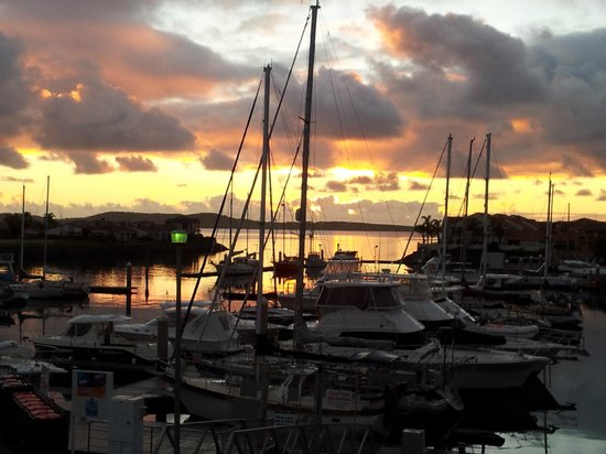 The Marina Hotel : not long after sunrise... over the marina... lovely