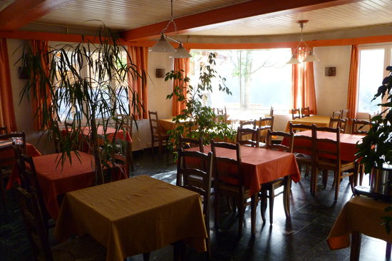 Hôtel les Flocons : la salle de restaurant