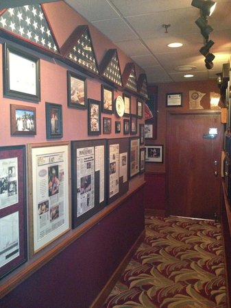 Mancini's Char House: One of many walls with pictures