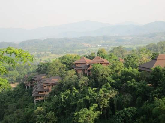 Phu Chaisai Mountain Resort: Vue de notre chambre