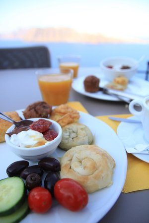 Esperas: Our breakfast selection (at least part of it).