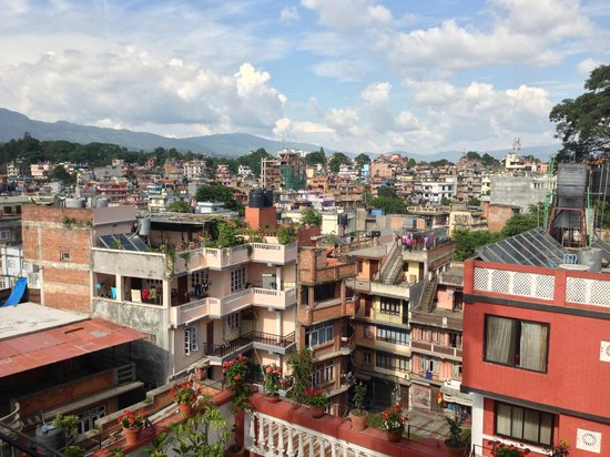 Hotel Encounter Nepal: view from rooftop patio